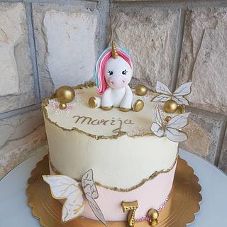 Unicorn bday cake