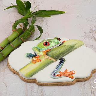 Travis the Tree Frog Cookie Art 🐸🎋