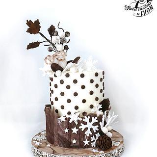 Christmas&Birthday Cake