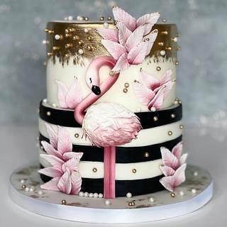 Flamenco cake - Cake by Silvia Gundová