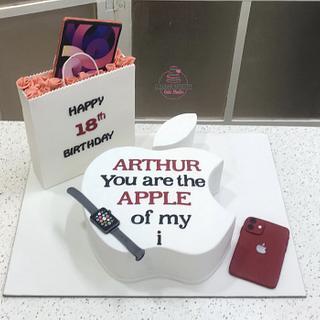 Apple Logo  - Cake by D Sugar Artistry - cake art with Shabana