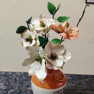 Magnolias  - Cake by Dr RB.Sudha