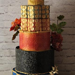 Colorful Wedding Cake  - Cake by Dr RB.Sudha