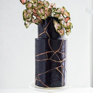 Black and Gold Kintsugi Cake - Cake by Anna Astashkina