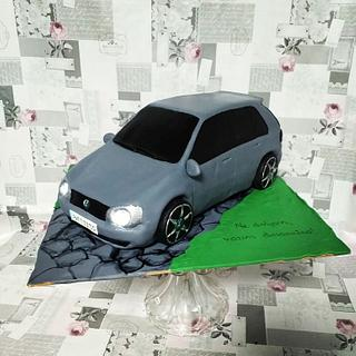 VW Golf6 3D cake