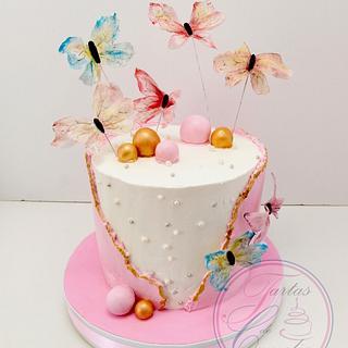 TARTA MARIPOSA - Cake by Camelia