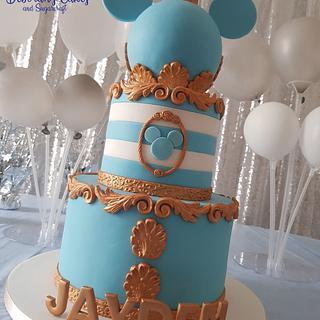 Baroque style birthday cake