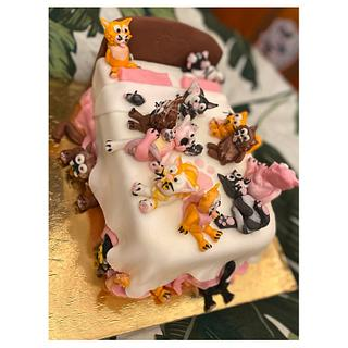Kočičí narozeninový dortík 😻 (Cat cake)