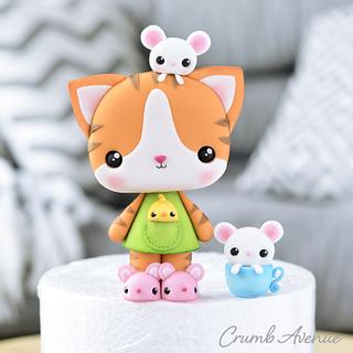 Cute Cat Cake Topper