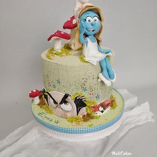 The Smurfs - Cake by MOLI Cakes