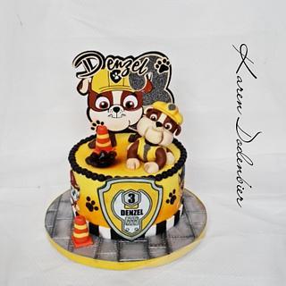 Rubble Paw Patrol  - Cake by Karen Dodenbier