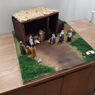 Nativity Christmas cake - Cake by TheCakemanDulwich