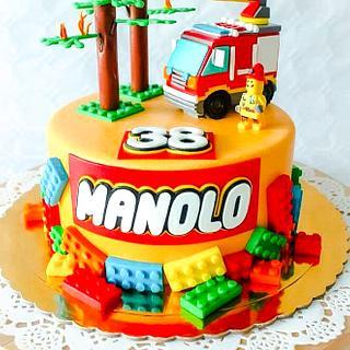 Lego ❤️ - Cake by TartaSan - Damian Benjamin Button