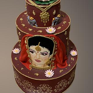Wedding cake - indian culture