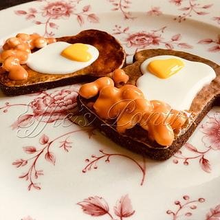 Egg & Beans on toast COOKIES