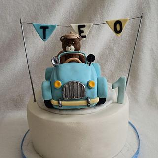 Teddy and car