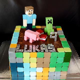 Minecraft cake - Cake by OSLAVKA