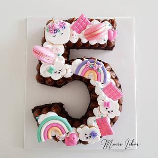 Number cake - Cake by Maira Liboa