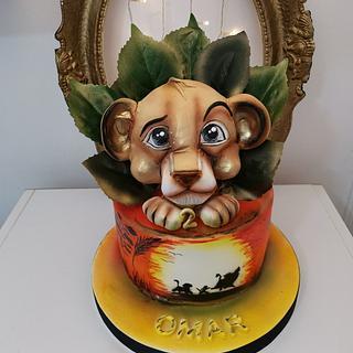 King lion Simba cake
