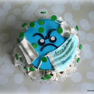 Dahley's corona virus birthday cake