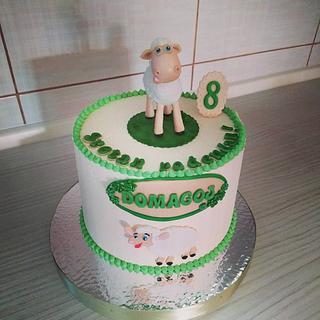 Sheep topper cake - Cake by Tortalie