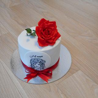 With sugar rose  - Cake by Janka