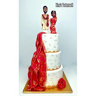 Indian Weddingcake  - Cake by Dina's Tortenwelt