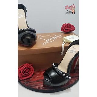 Christian Louboutin Shoe box cake