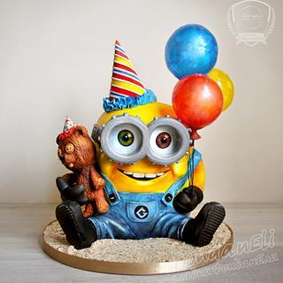 The minion Bob - 3D cake
