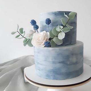 Painted cake boho style - Cake by Silvia Caballero