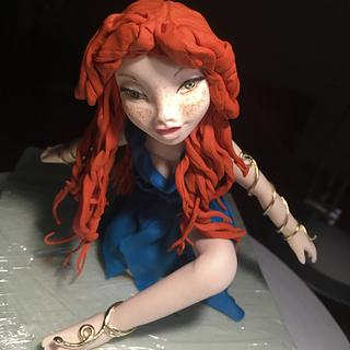 Saracino red hair doll