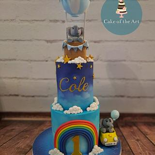 Balloons and elephants  - Cake by Cake Of The Art
