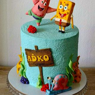 Spongebob and friends cake  - Cake by Janeta Kullová