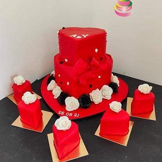 Heart wedding cake - Cake by Ruth - Gatoandcake