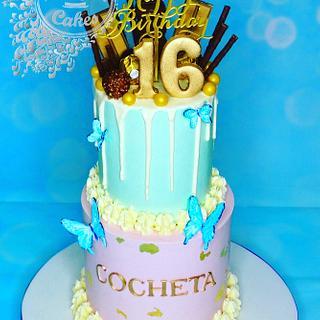 Pretty birthday cake  - Cake by Beata Khoo