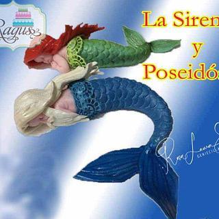 Poseidon and the little mermaid
