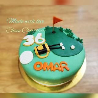 Golf cake - Cake by ChocoChocolate