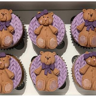 Teddy Bear Cupcakes - Cake by Sugar by Rachel