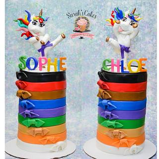 Unicorn karate cake