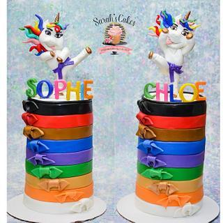 Unicorn karate cake - Cake by Sarah's Cakes
