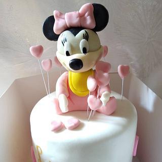 baby minnie birthy cake - Cake by Cups'& Cakery Design