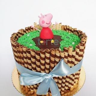 Peppa pig cake! - Cake by Torte by Amina Eco