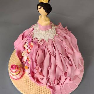 Wedding cake bridal shower cake
