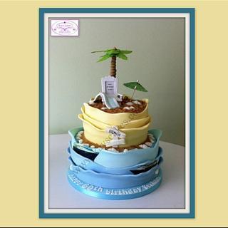 Holiday dreaming cake