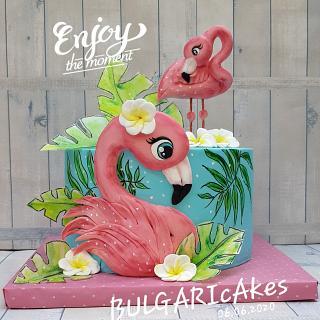 flamingos... - Cake by BULGARIcAkes