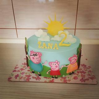 Peppa pig cake - Cake by Tortalie