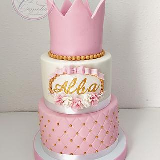 TARTA COMUNION ALBA - Cake by Camelia