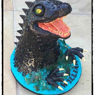 Godzilla!! - Cake by Rhona