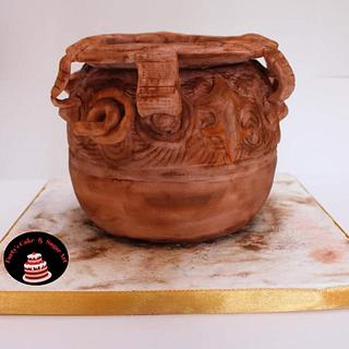 Art of Pottery- An International Cake Art Collaboration  - Cake by Umme Kulsum