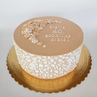 Anniversary cake  - Cake by Tortebymirjana